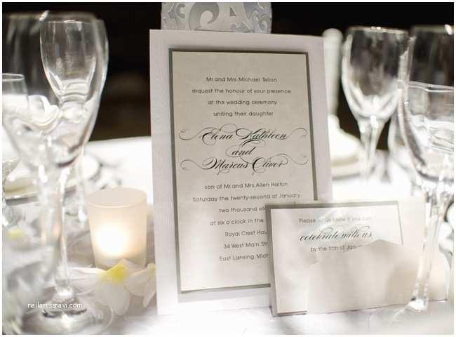 White And Silver Wedding Invitations Elegant Traditional White Silver Wedding Invitations