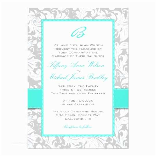 White And Silver Wedding S Silver White Damask Turquoise Wedding