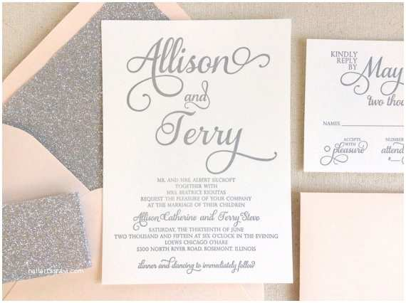 White and Silver Wedding Invitations the Stargazer Suite Modern Letterpress Wedding Invitation
