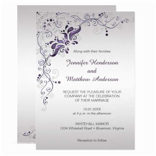 White and Silver Wedding Invitations White and Silver Wedding Invitations