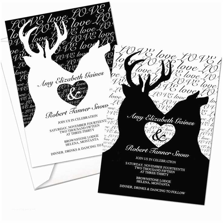 White Camo Wedding Invitations 10 Best Images About Deer & Camo Wedding On Pinterest