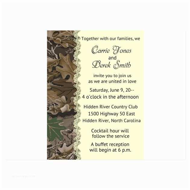 White Camo Wedding Invitations Camo Camouflage Wedding Invitation Invitations by