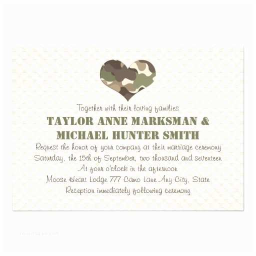 White Camo Wedding Invitations Camouflage Camo Heart Wedding Invitations