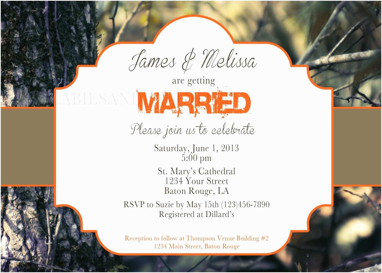 White Camo Wedding Invitations Real Tree Camo Wedding Invitation Bridal Invitation Camo
