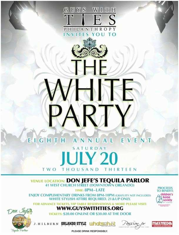 White Party Invitations 8th Annual White Party Benefit