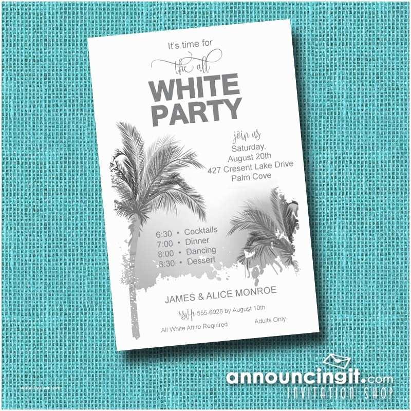 White Party Invitations All White Party Invitation