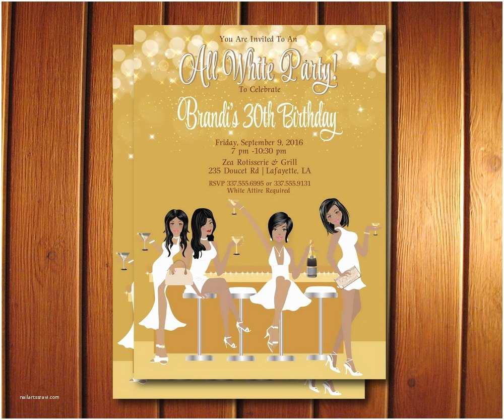 all white party invitation white