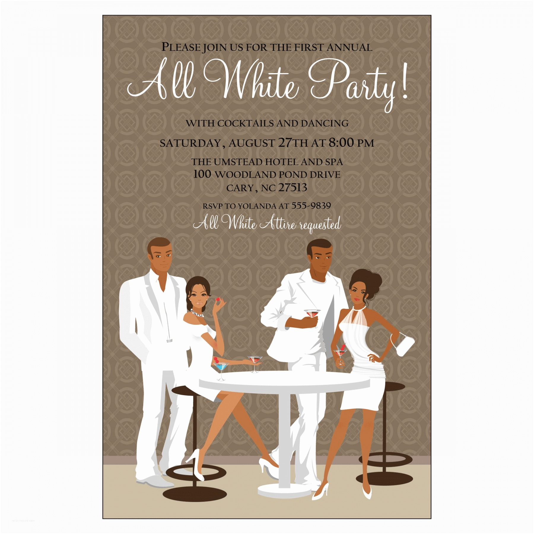 White Party Invitations All White Party Invitations – Gangcraft