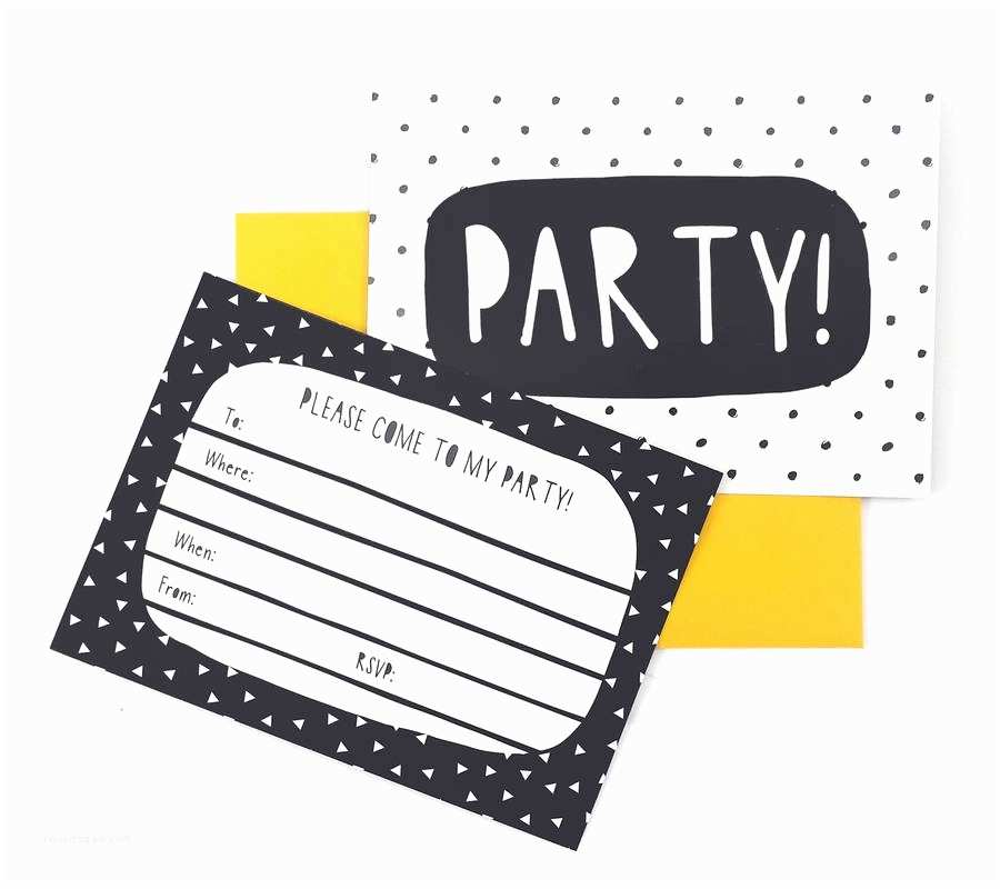 White Party Invitations Black and White Party Invitations by Of Life & Lemons