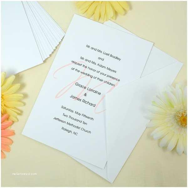 White Wedding Invitation Kit Diy Invitation Kit In White or Ivory
