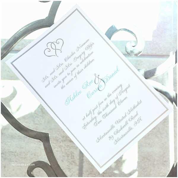 White Wedding Invitation Kit White Platinum Hearts Wedding Invitation Kit Set Of 50