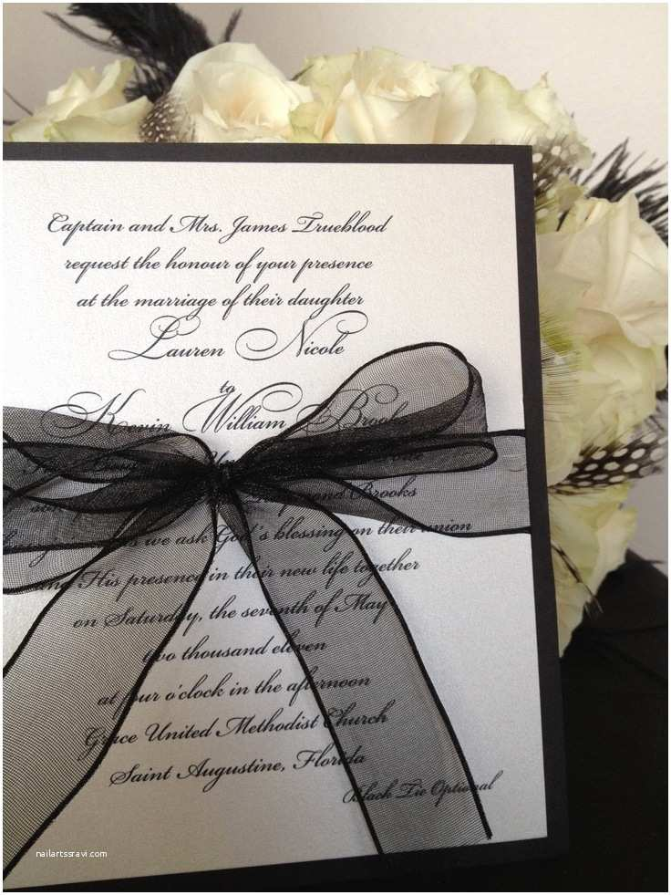 White Wedding Invitations Black & White Wedding theme Ideas – Dipped In Lace