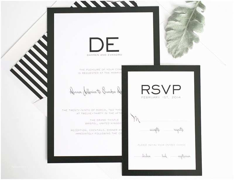 White Wedding Invitations Black and White Stripe Wedding Inspiration – Wedding