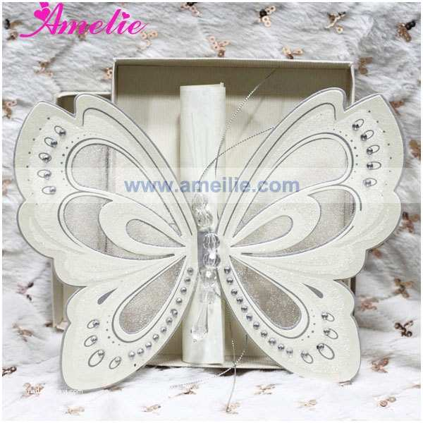 Wholesale Scroll Wedding Invitations 50pcs Lot wholesale with Gift Box Elegant Wedding Invites