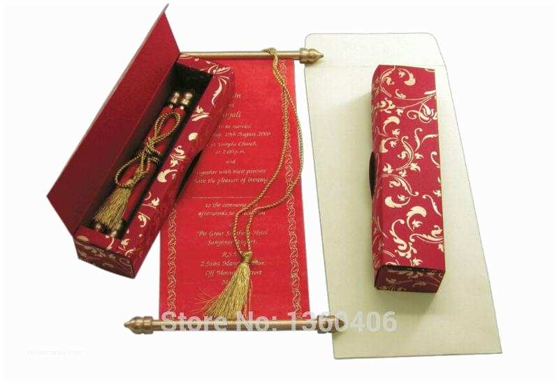 Wholesale Scroll Wedding Invitations Chinese Red Scroll Invitation Cards Wedding Invitations