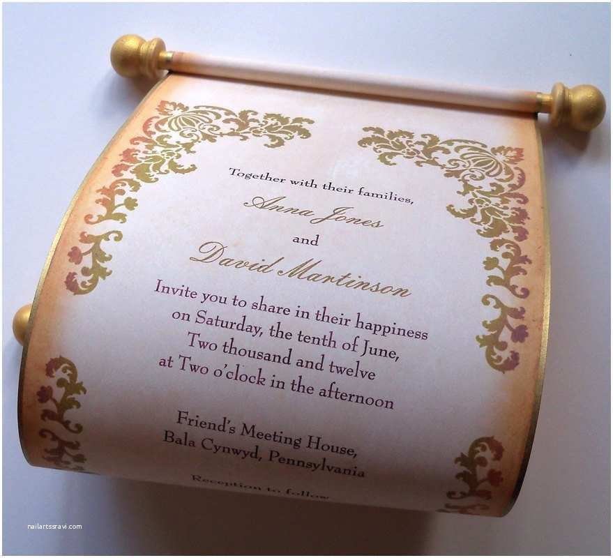 Wholesale Scroll Wedding Invitations Rustic Wedding Invitation Scroll Invitations Country Wedding