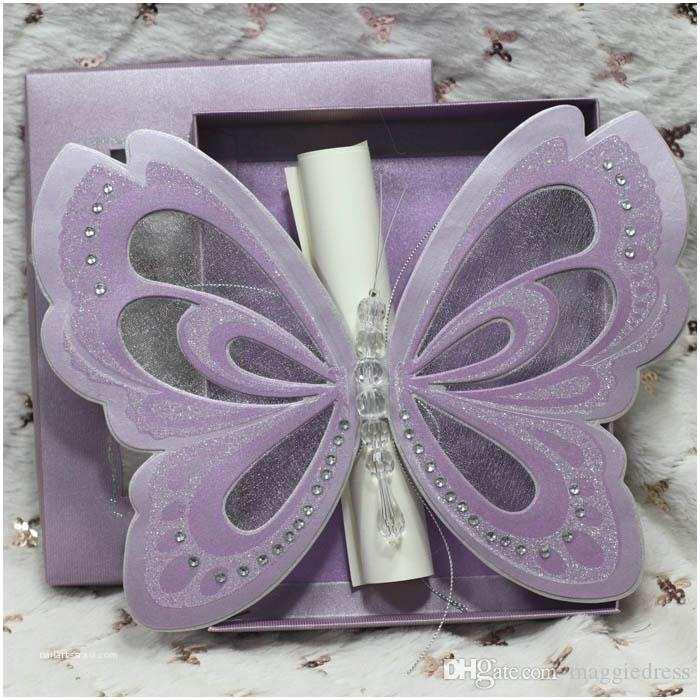 Wholesale Scroll Wedding Invitations wholesale butterfly Scroll Wedding Invitations Elegant