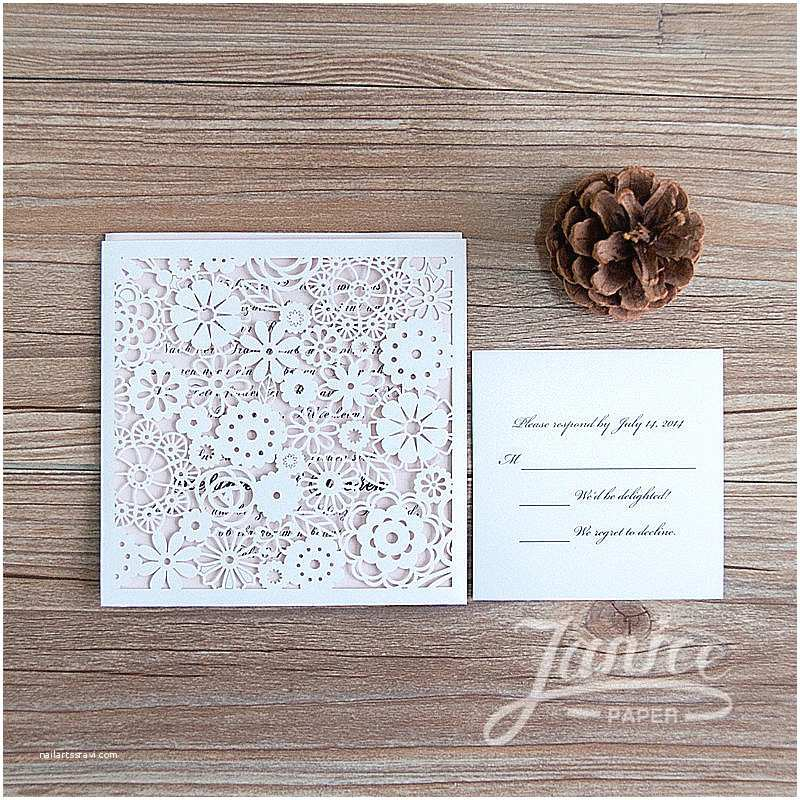 Wholesale Wedding Invitation Albums Charming Pocket Wedding Invitation Card with Laser Cut