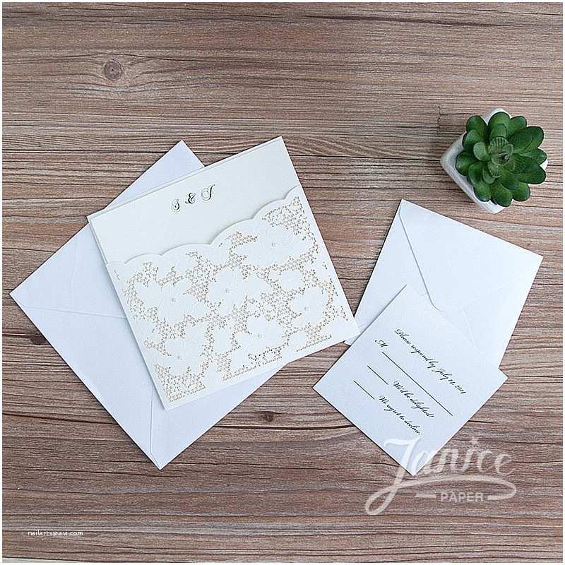 Wholesale Wedding Invitation Albums Fancy Floral Pearl Laser Cut wholesale Pocket Wedding