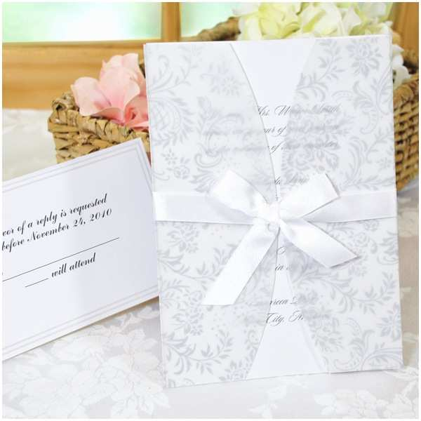 Wholesale Wedding Invitation Kits Laura ashley White Floral Invitation Kit In22
