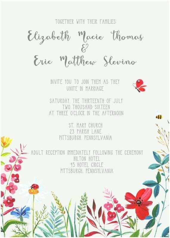 Wildflower Wedding Invitations Best 25 Wildflowers Wedding Ideas On Pinterest
