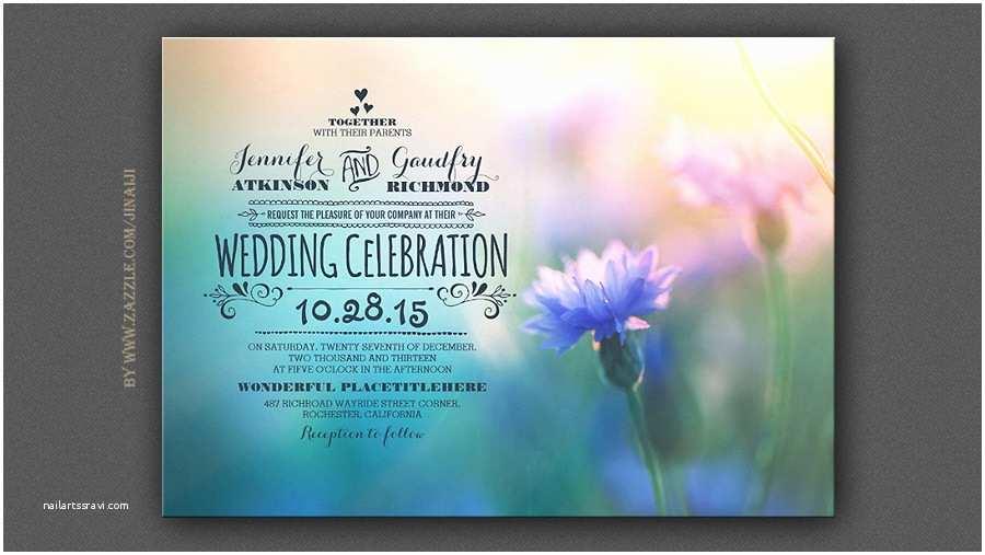 Wildflower Wedding Invitations Read More – Flower Blossom Romantic Wedding Invitations
