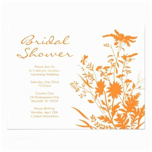 Wildflower Wedding Invitations Wildflower Bridal Shower Invitation