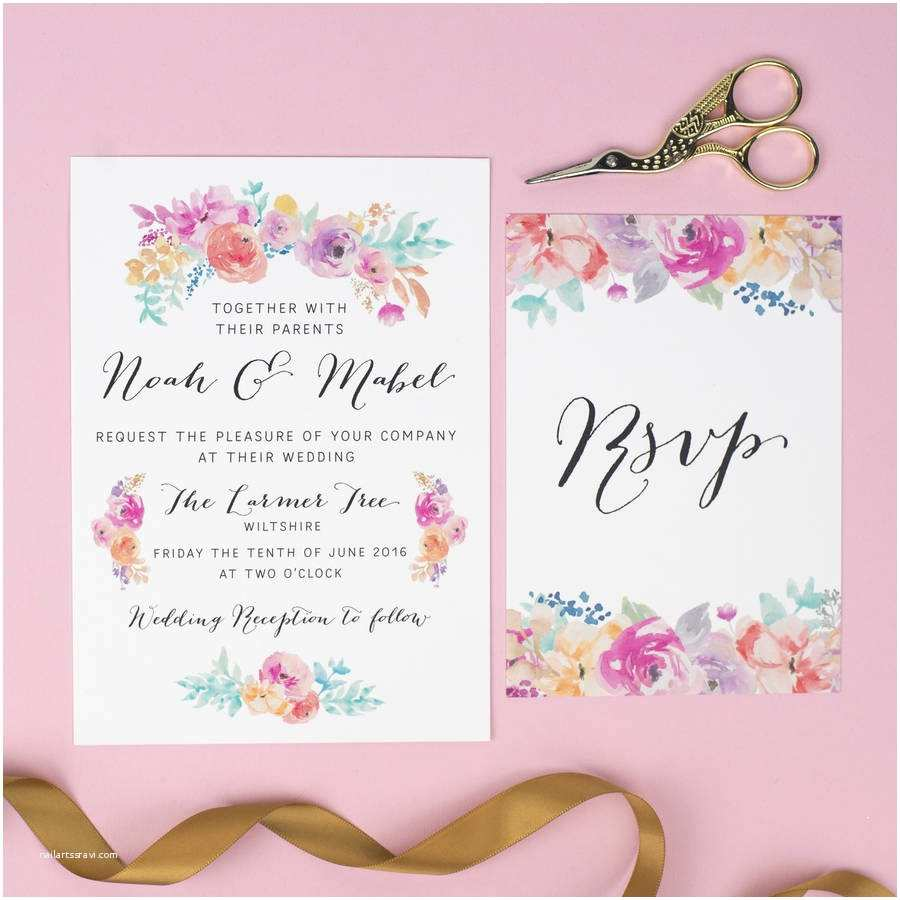 Wildflower Wedding Invitations Wildflower Wedding Invitation by Nina Thomas Studio