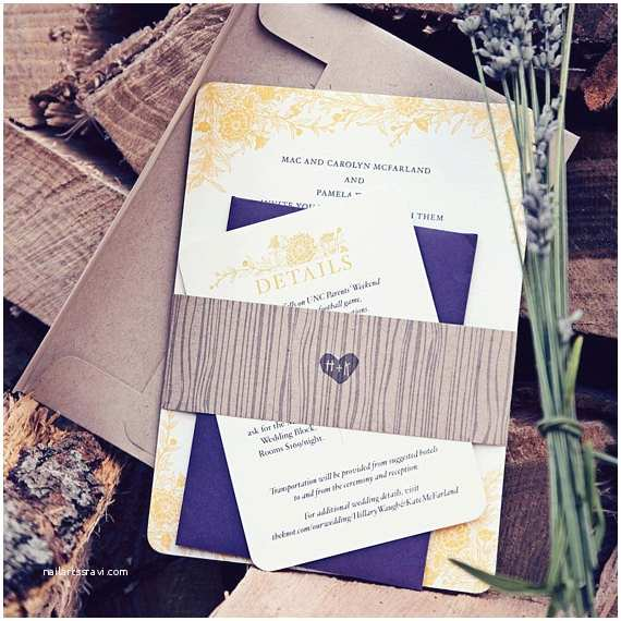 Wildflower Wedding Invitations Wildflower Wedding Invitation Rustic Wedding by Hellotenfold