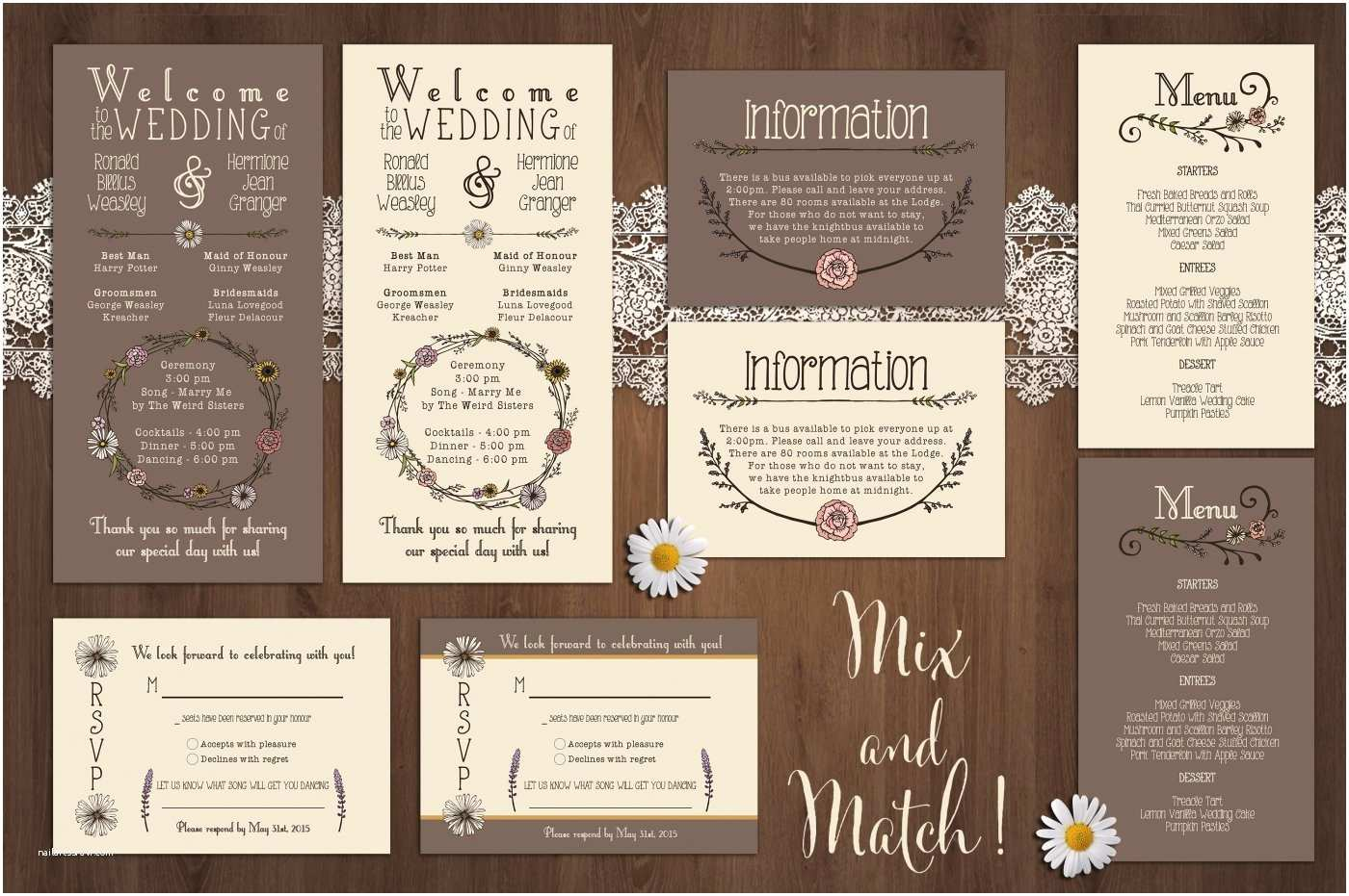 Wildflower Wedding Invitations Wildflower Wedding Invitation Suite by Knotted Design