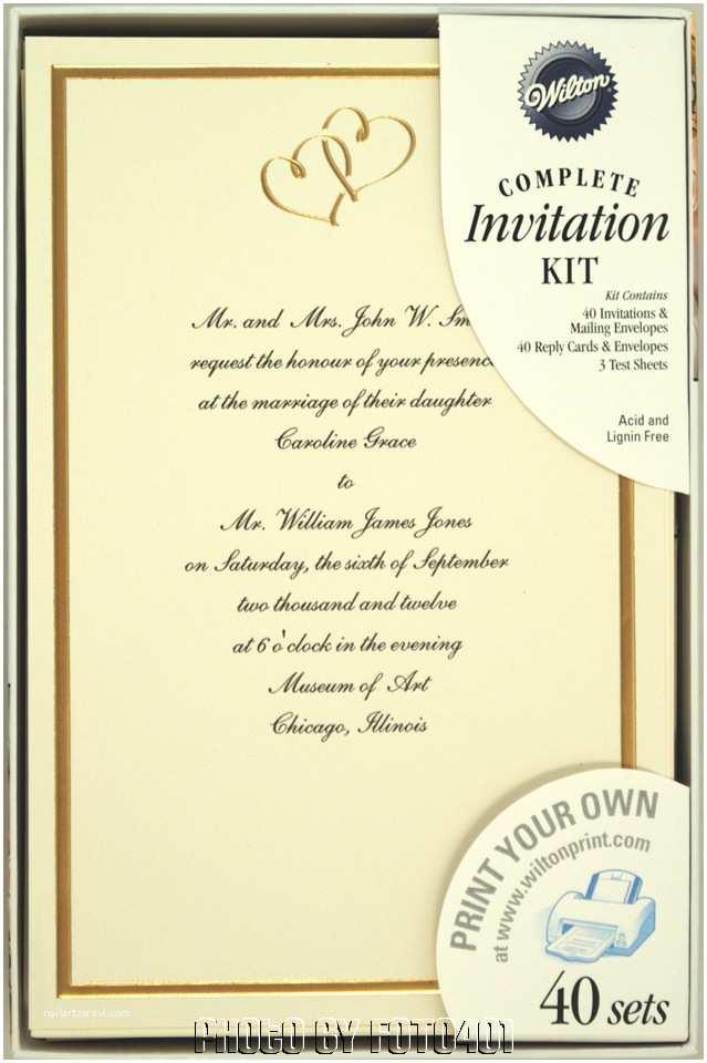 Wilton Wedding Invitation Kits 160 Wilton Ivory Gold Hearts Wedding Invitation Kits