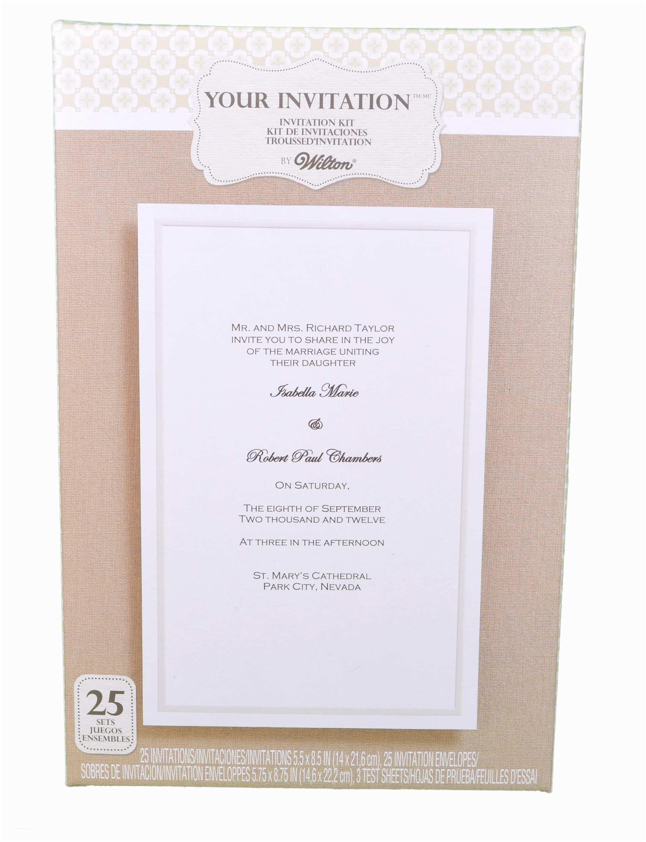 Wilton Wedding Invitation Kits Set Of 25 Wilton Wedding Simplistic White Basic Invitation