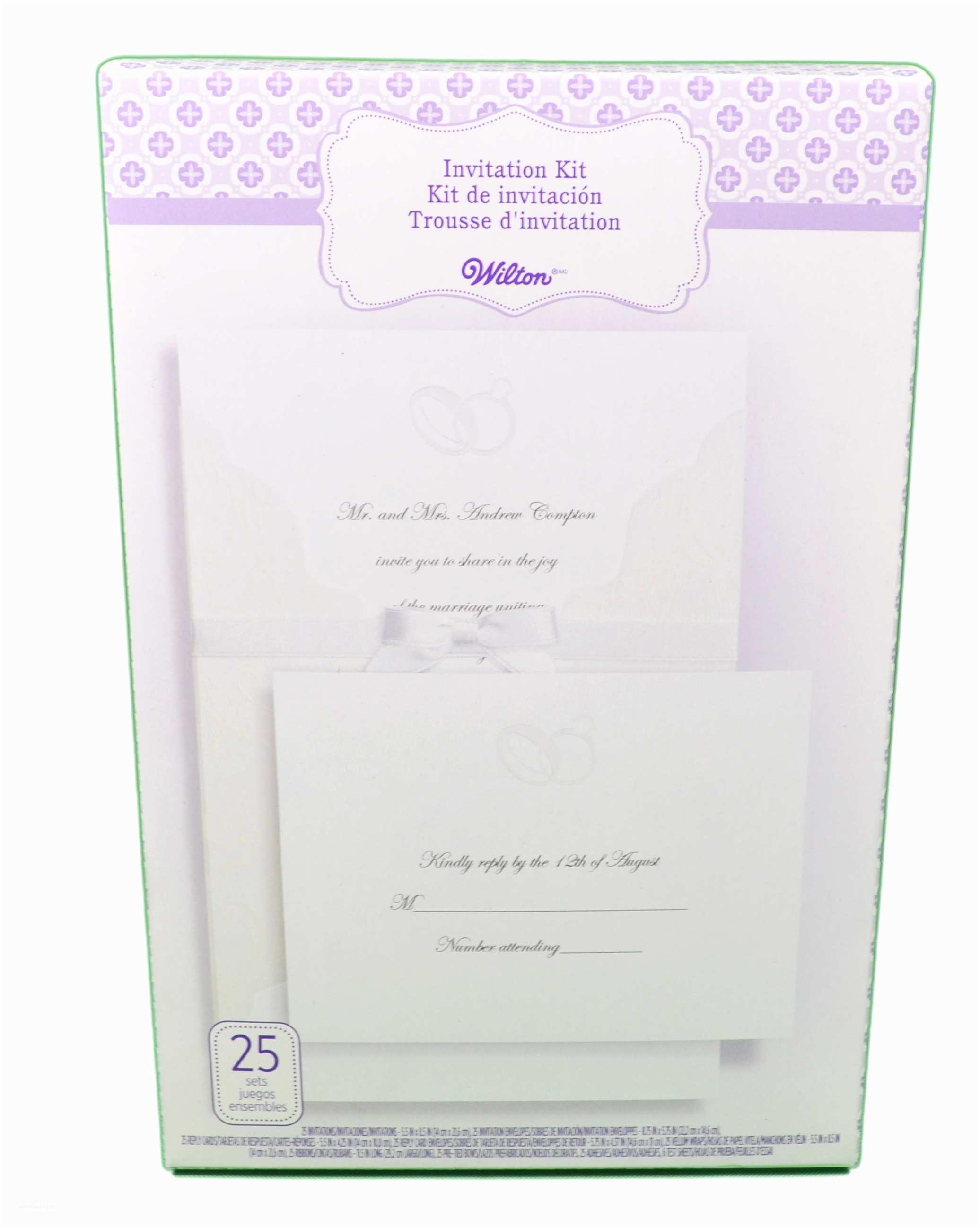 Wilton Wedding Invitation Kits Wilton Wedding Invitation Kit Embellished Rings 25 Count