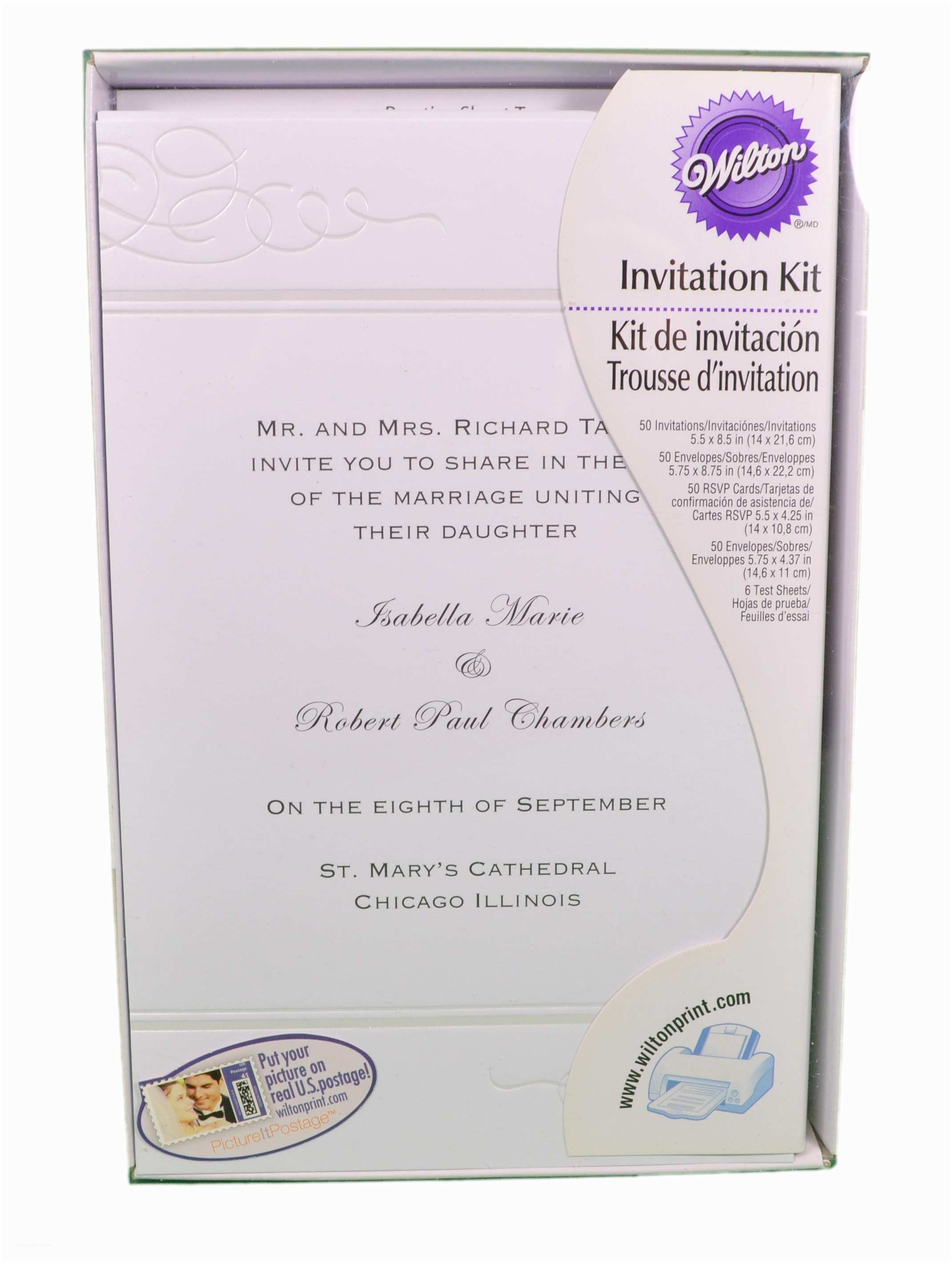 Wilton Wedding Invitations Set Of 50 Wilton Wedding White Swirl Print Your Own