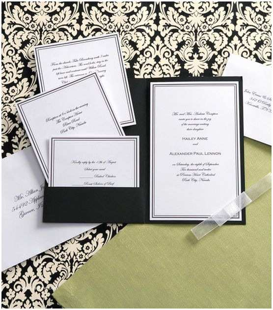 Wilton Wedding Invitations Wilton Elegance Invitation Kit Black & White
