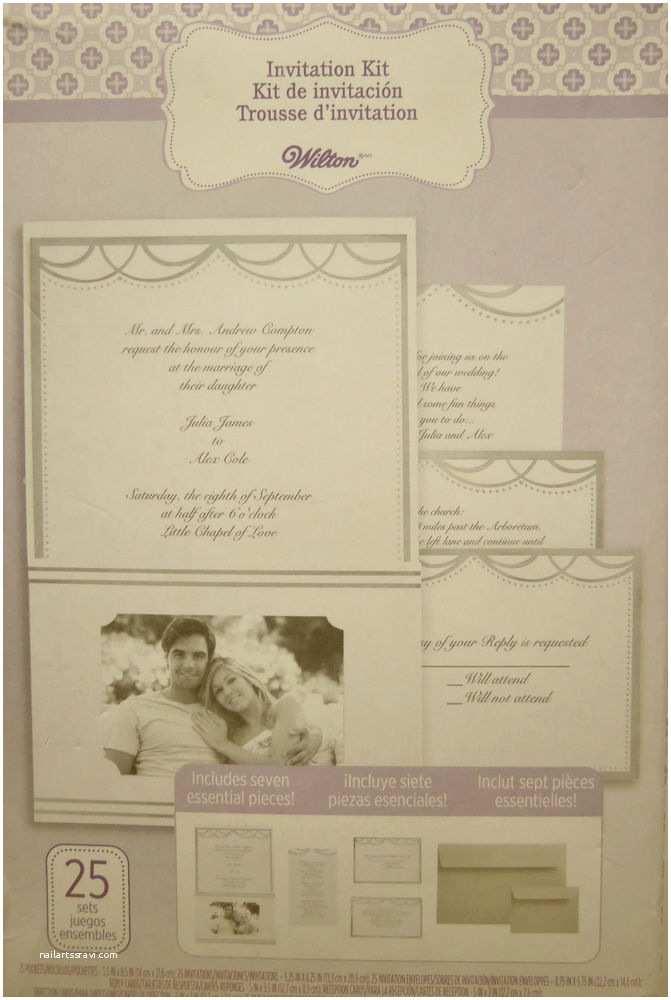 Wilton Wedding Invitations Wilton Wedding Invitation Kit with Pocket Silver