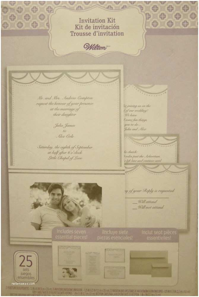Wilton Wedding Invitations Wilton Wedding Invitation Kit with Pocket Silver