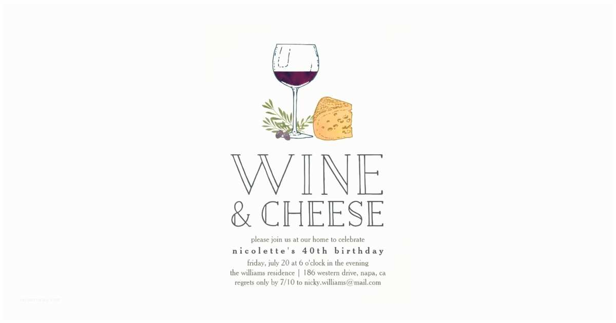 Wine and Cheese Party Invitations Any Occasion Wine and Cheese Party Invitation