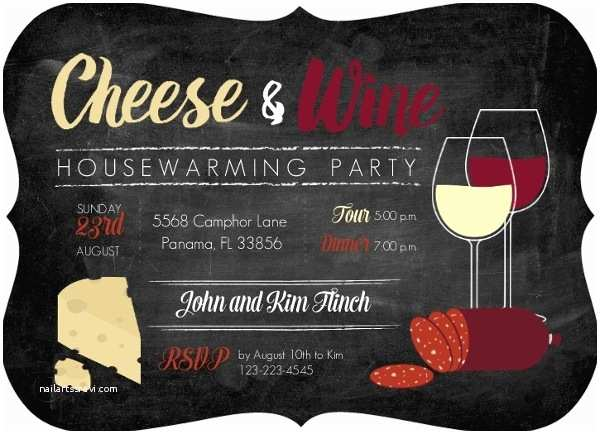 Wine and Cheese Party Invitations Cheese and Wine Housewarming Party Invitation