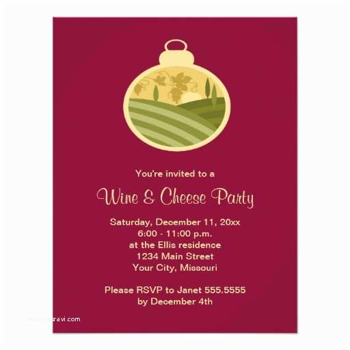 "Wine and Cheese Party Invitations Holiday Wine and Cheese Party Invitations 4 25"" X 5 5"