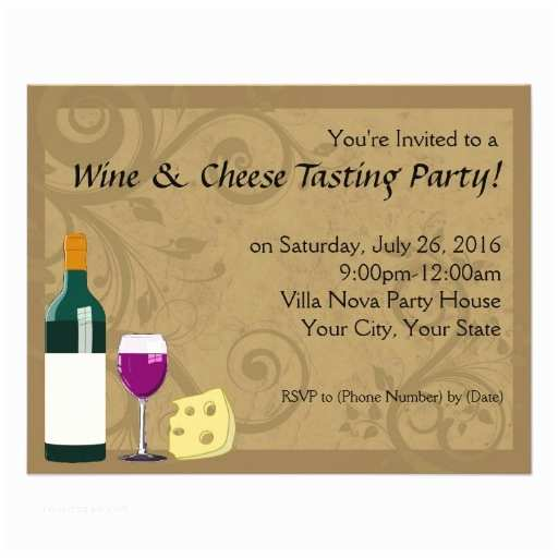 wine cheese tasting party invitations