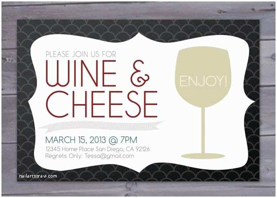Wine and Cheese Party Invitations Wine and Cheese Party Invitation Printable by Brigeeski On