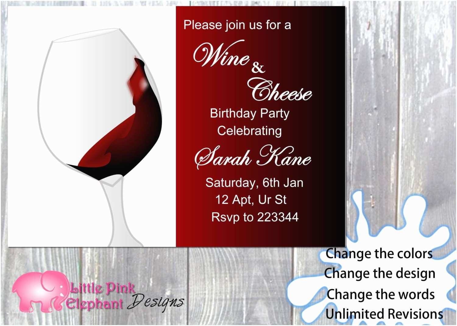 Wine and Cheese Party Invitations Wine and Cheese Party Invitation Wine and Cheese Invite Wine