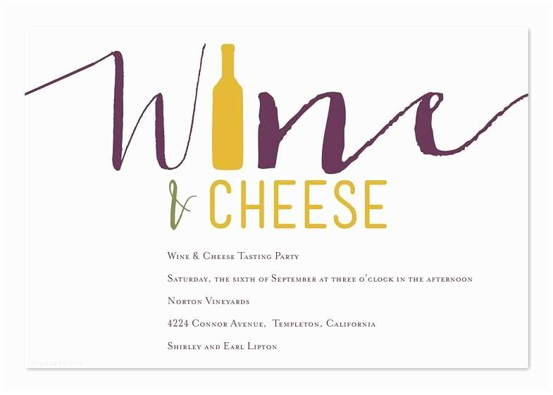 Wine and Cheese Party Invitations Wine theme Wedding Invitations