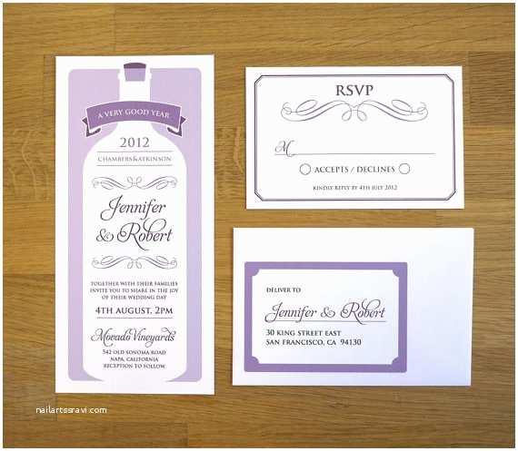 Wine Bottle Wedding Invitations 28 Best Invitations Images On Pinterest