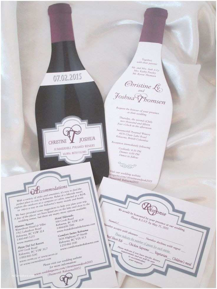 Wine Bottle Wedding Invitations 38 Best Images About Wedding Invitations On Pinterest