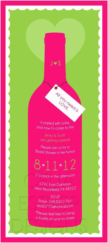 Wine Bottle Wedding Invitations Items Similar to Wine Bottle Wedding Shower Invitation On Etsy