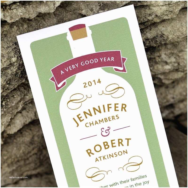 Wine Bottle Wedding Invitations Modern Vineyard Wedding Invitation 'wine Bottle' Rustic