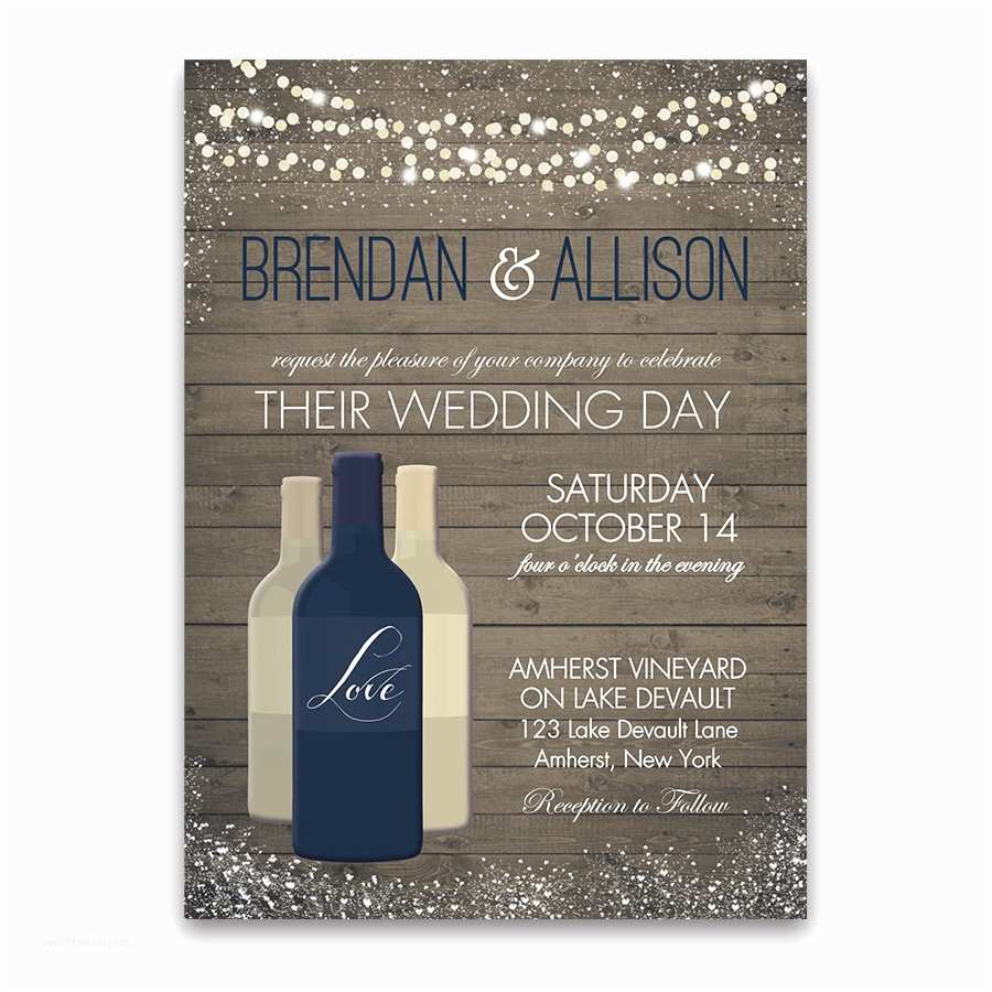 Wine Bottle Wedding Invitations Vineyard Wine Bottle Wedding Invitations Color Options