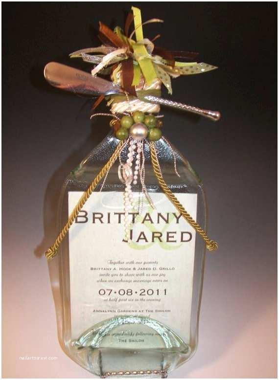 Wine Bottle Wedding Invitations Wedding Invitation Keepsake Flattened Wine by